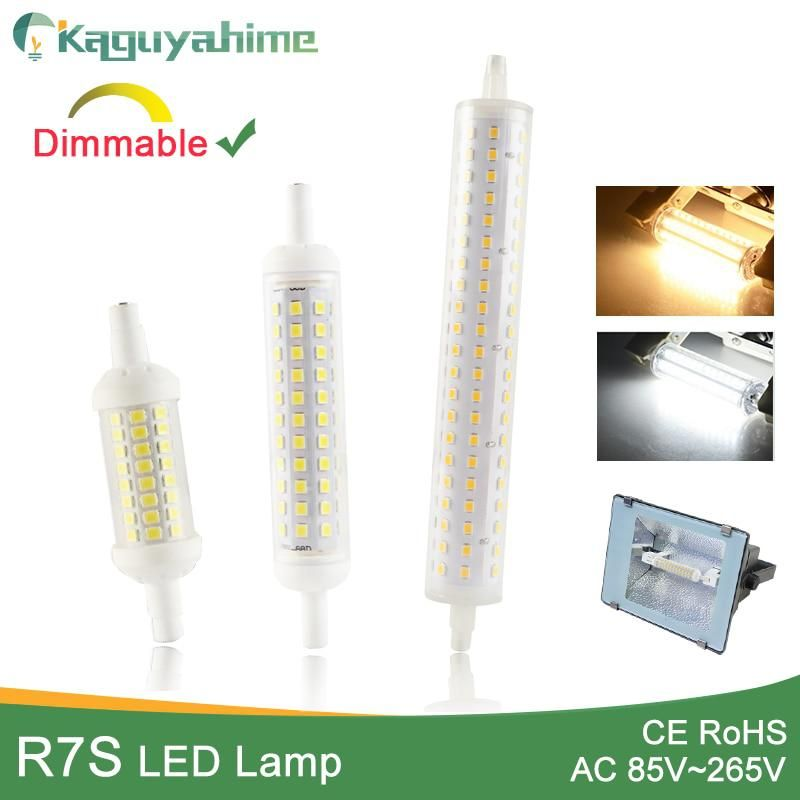 Kaguyahime R7s J78 J118 J135 Ac 110v 220v Led Bulb Dimmable Corn Lamp 78mm 118mm 189mm Replace Halogen 50w Floodlight Spot Li Bulb Halogen Lamp Light Bulb