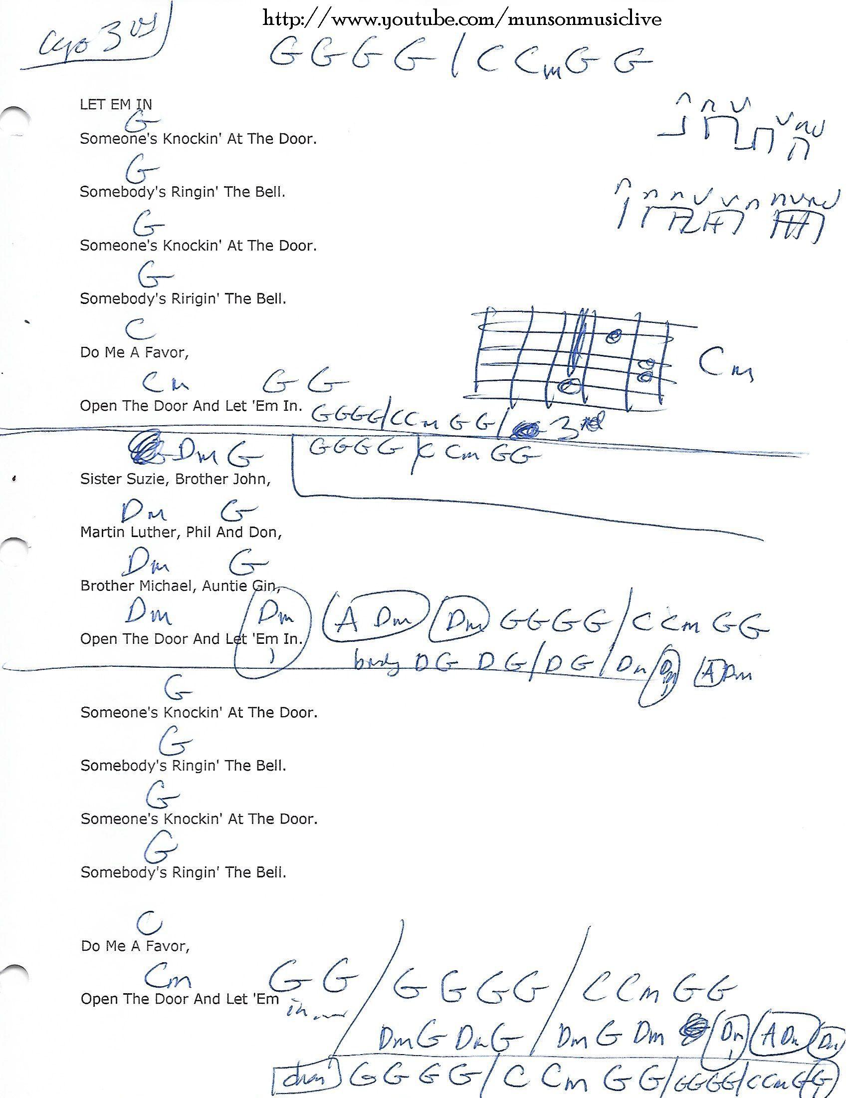 Let Em In The Beatles Guitar Chord Chart Ukulele Pinterest