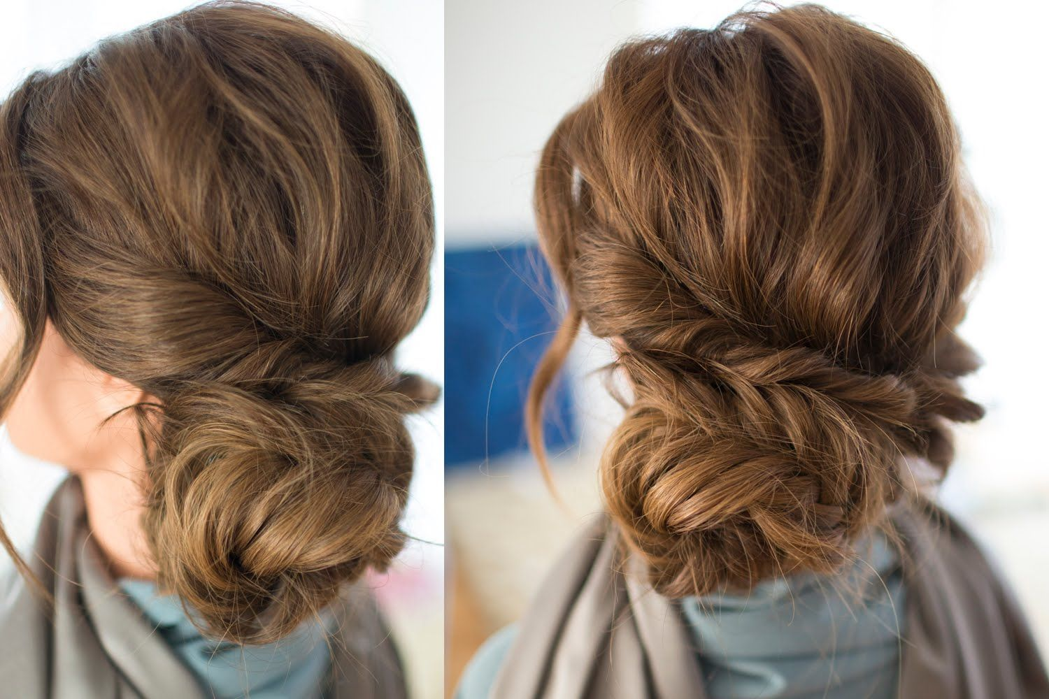 Braided Side Updo Hair Tutorial Using Clip In Hair Extensions In The