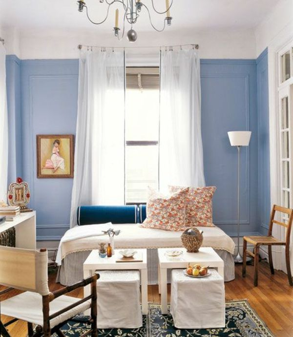 Taubenblauе wohnzimmer klassisch kronleuchter Wandfarbe Home Décor