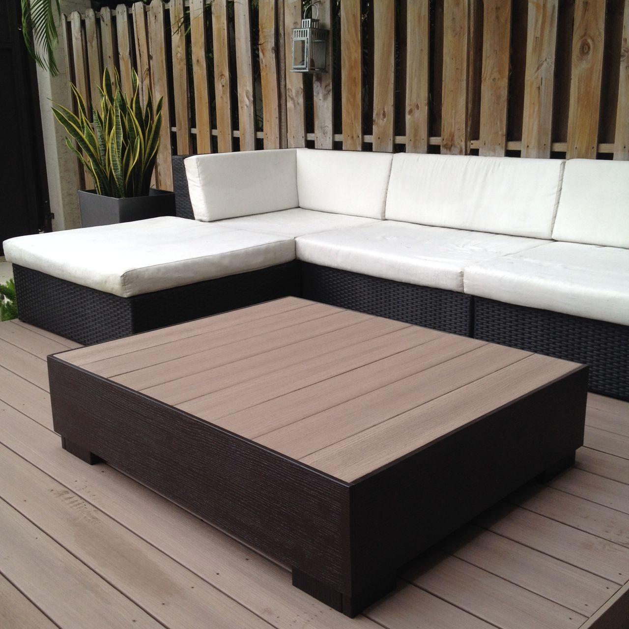 Custom Coffee Table. Plastic Deck Wood. Two Tone Paint