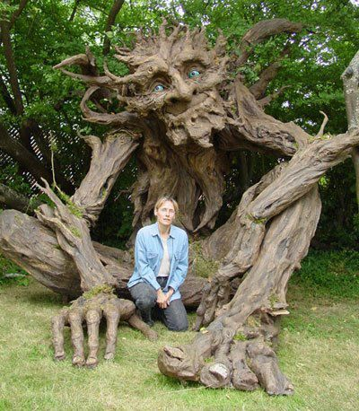 A paper mache tree. So cool!