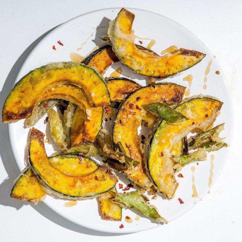 Kabocha Squash And Scallion Tempura Recipe With Images Recipes