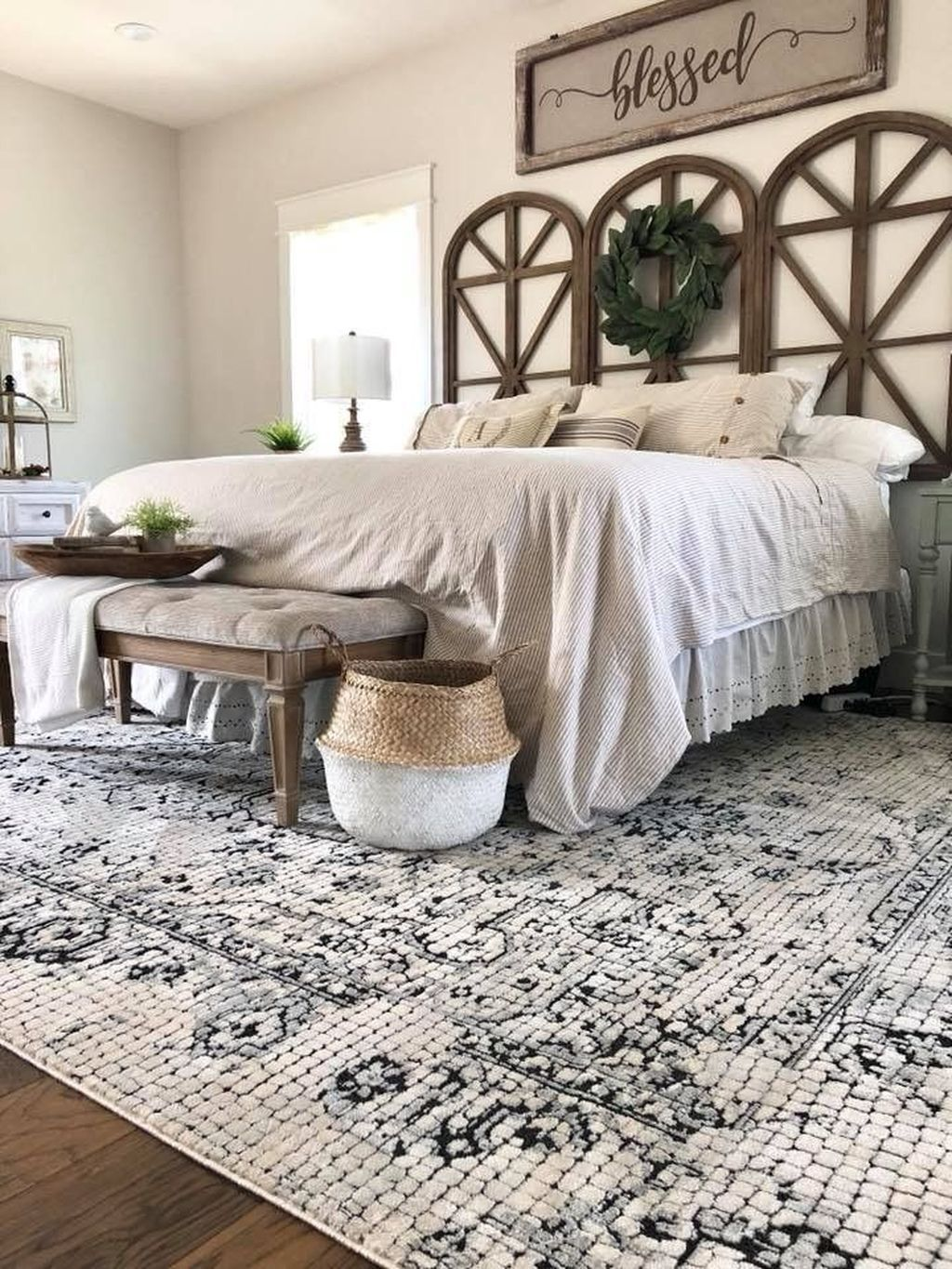30 Awesome Farmhouse Style Master Bedroom Ideas Home Decor Bedroom Rustic Farmhouse Bedroom Master Bedrooms Decor