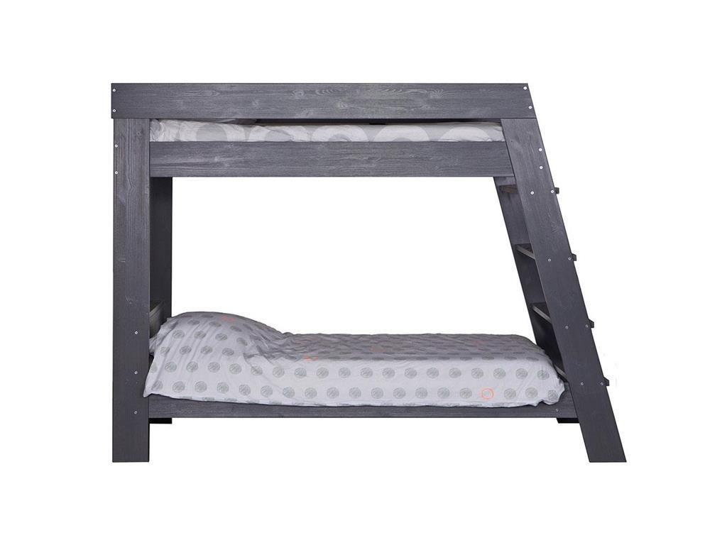 Wohnwagen Dreifach Etagenbett : Woood etagenbett grau mit rolllattenrost 90x200cm julien 365587 gbs