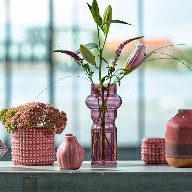 Vase, rosa, 10 cm, 2er-Set Villa Collection Pinterest Villas - gestreifte grne wnde