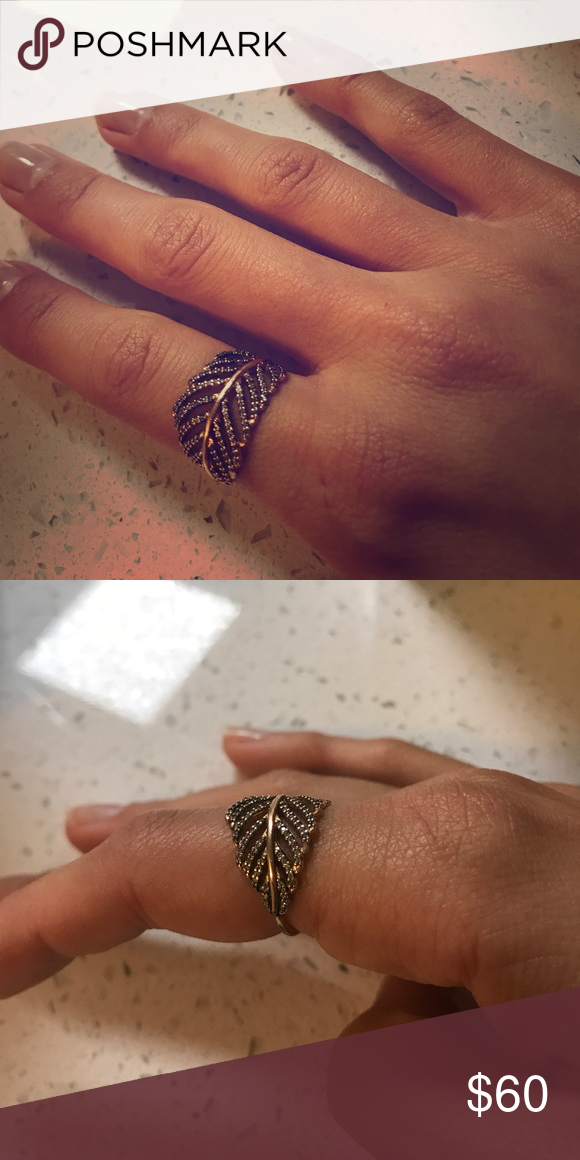 8cf1c618c571a Pandora rose gold feather ring Pandora rose gold feather ring 18k ...