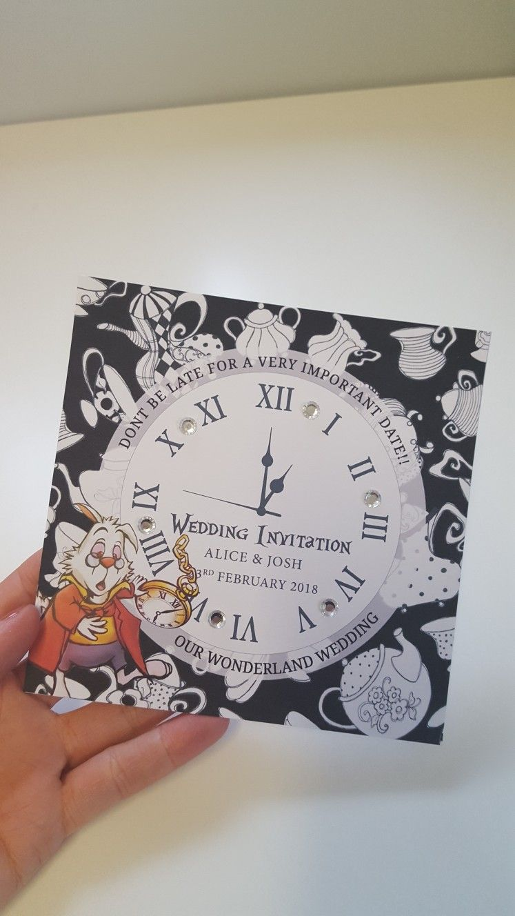 Alice in Wonderland Wedding Invitations from 50p | 30th Bday | Pinterest