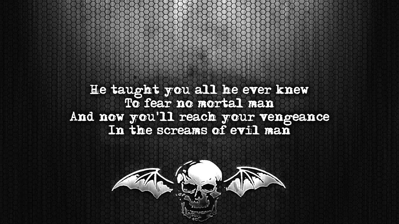 Avenged Sevenfold Flash Of The Blade Lyrics On Screen Full Hd
