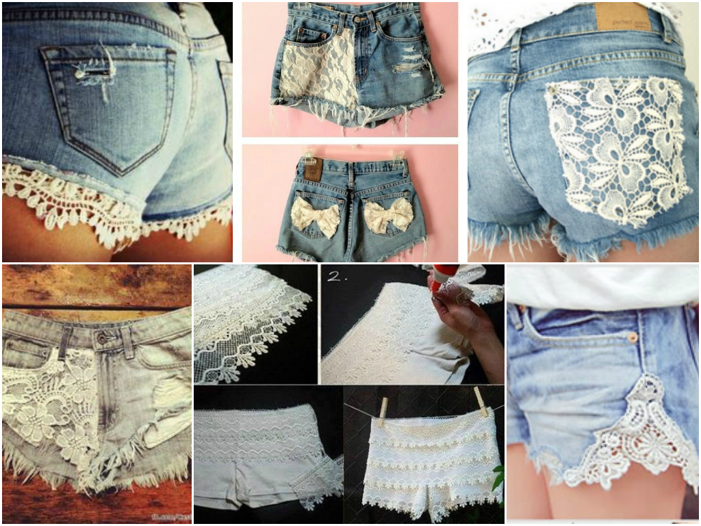 diy customiza231227o de shorts jeans tutoriais no post