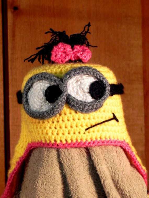 custom crochet minion hat by ShepherdsHooks on Etsy, $35.00 | Hats ...