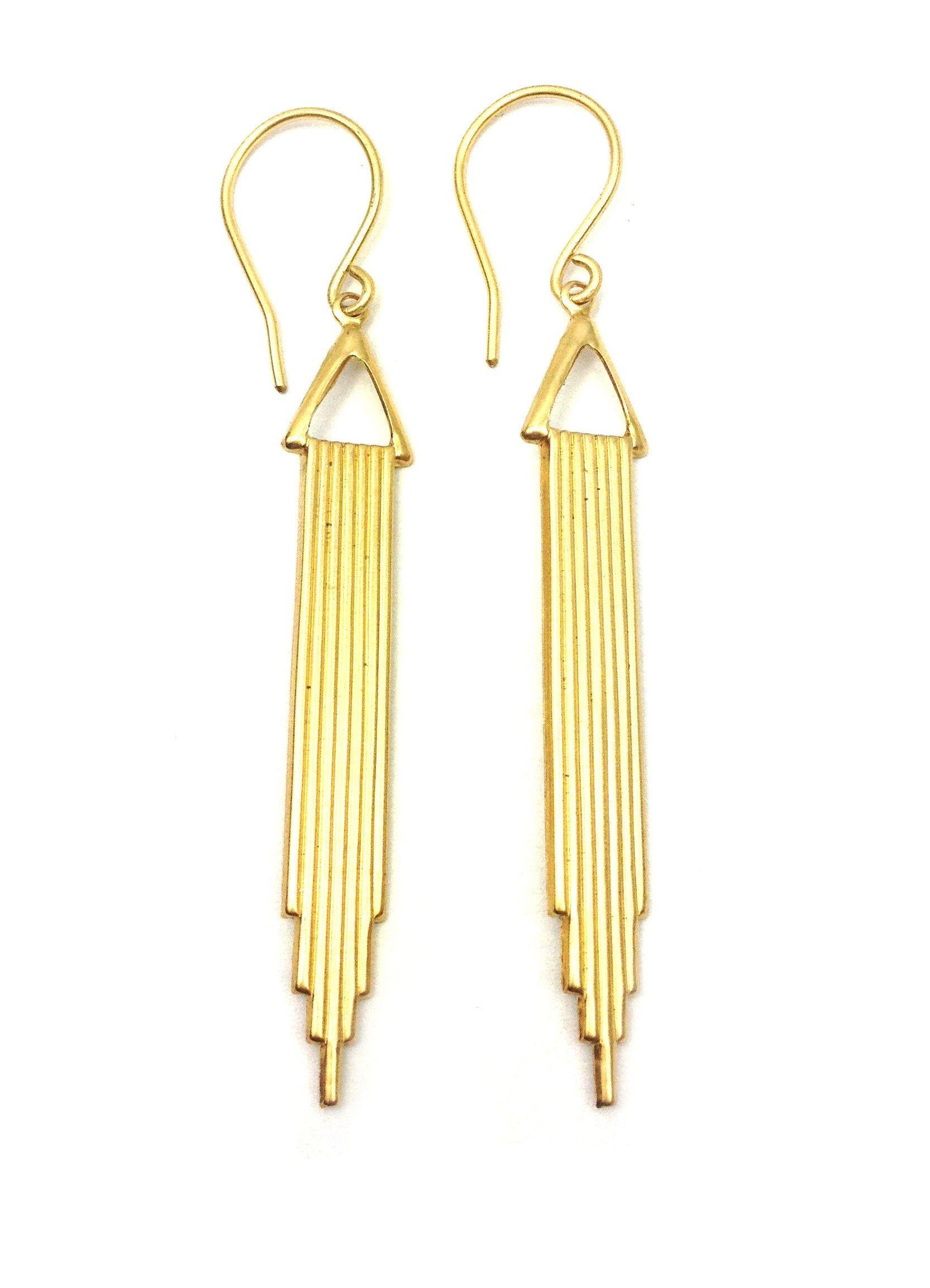 Long Art Deco Earrings - Vintage Inspired Jewellery By Zara Taylor