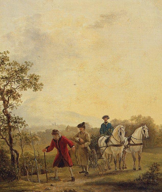 Voltaire plantomane - Jean Huber (1721-1786)