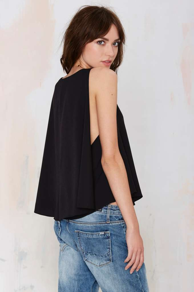 On the Fly Cape Blouse