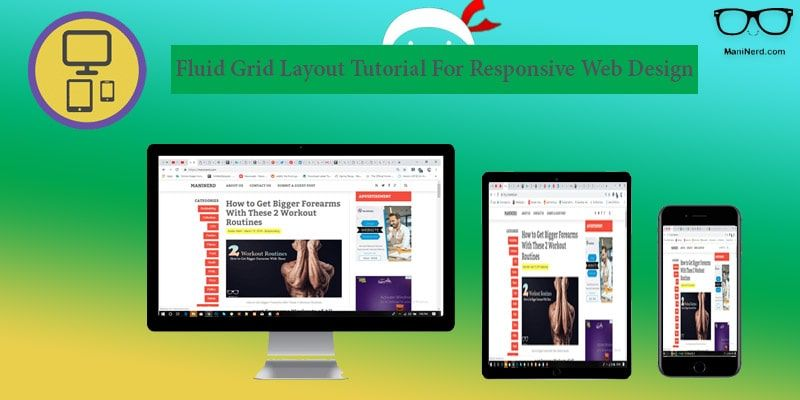 Fluid Grid Layout Tutorial For Responsive Web Design With Images Grid Layouts Web Design Responsive Web Design