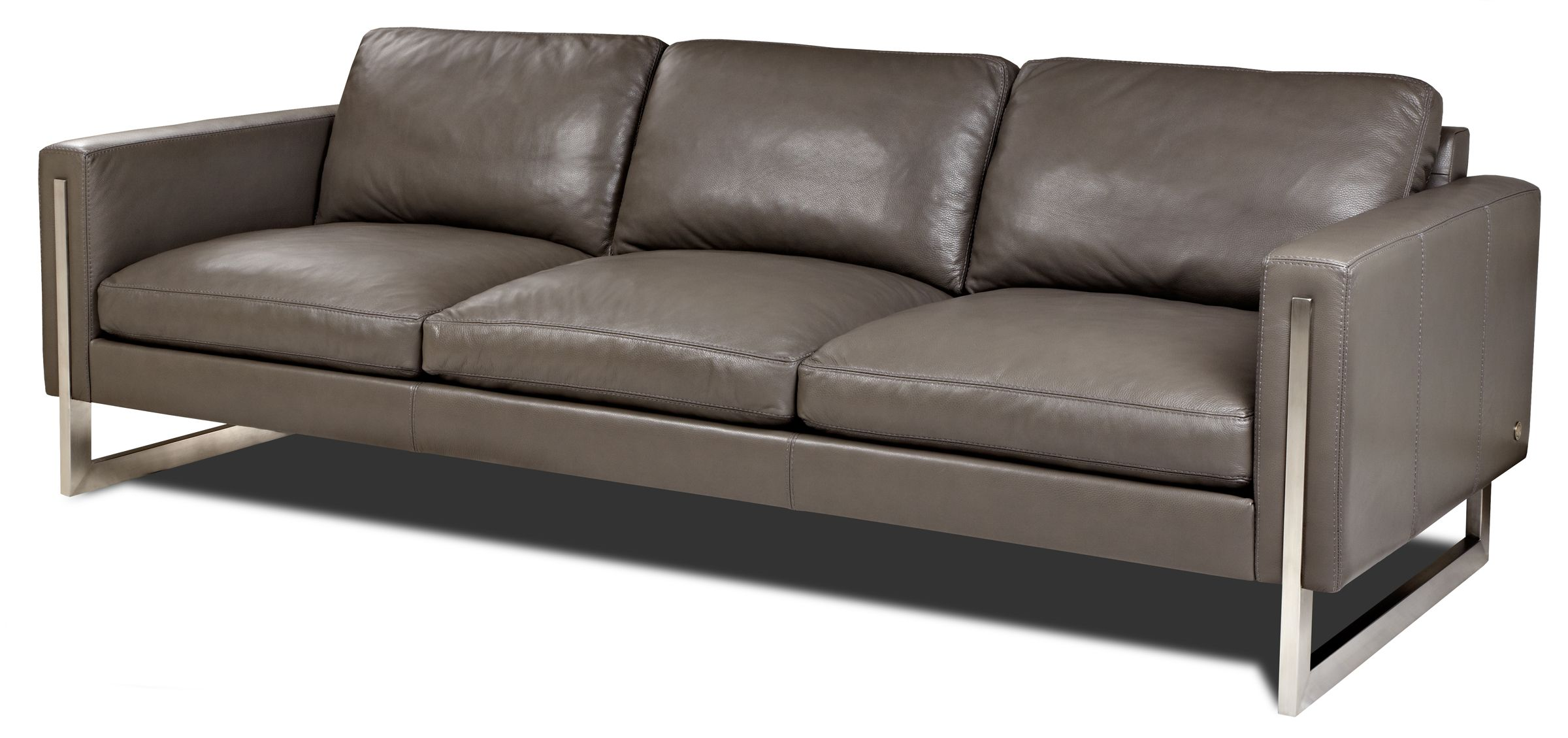 American Leather Savino Sofa With Smooth Seat And Back Cushions