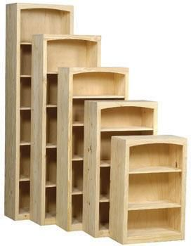 Lam Brother S Unfinished Furniture Wide Bookcase Real Wood Furniture Bare Wood Furniture