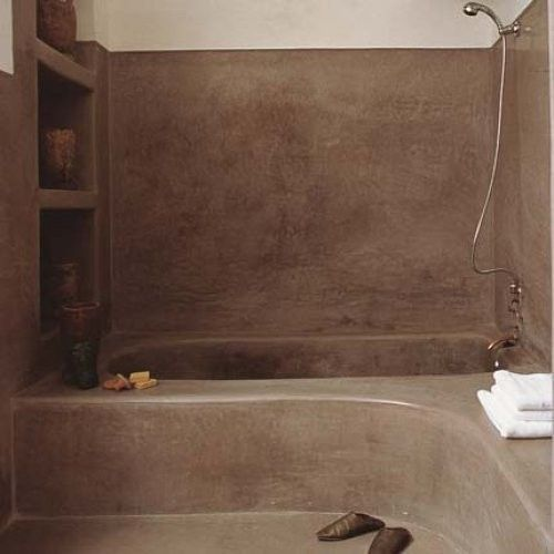 Salle de bain en tadelakt / ciment coulé. Inspiration hammam, Riad ...
