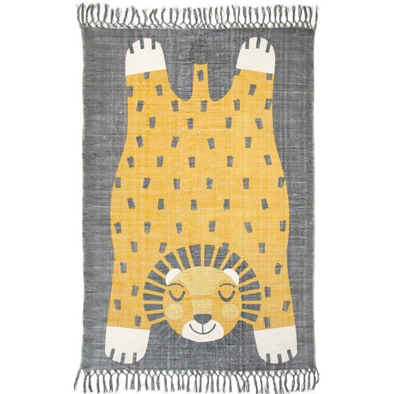 """Kinderteppich Löwe """"Baba"""", 100% Baumwolle, 110 x 170 cm, von ..."""