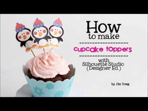 Cupcake Toppers with the Silhouette {Silhouette}     Never buy another cupcake toppers from the store! Use this tutorial to make your own unique cupcake topper with your Silhouette Cameo.
