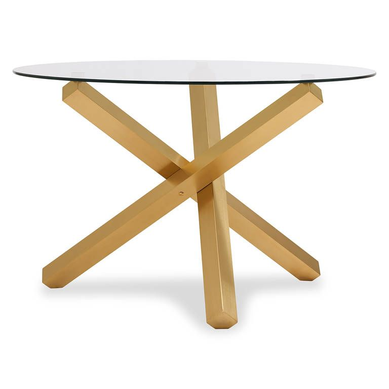 Maverick Dining Table Matte Brass Dining Table Matte Brass