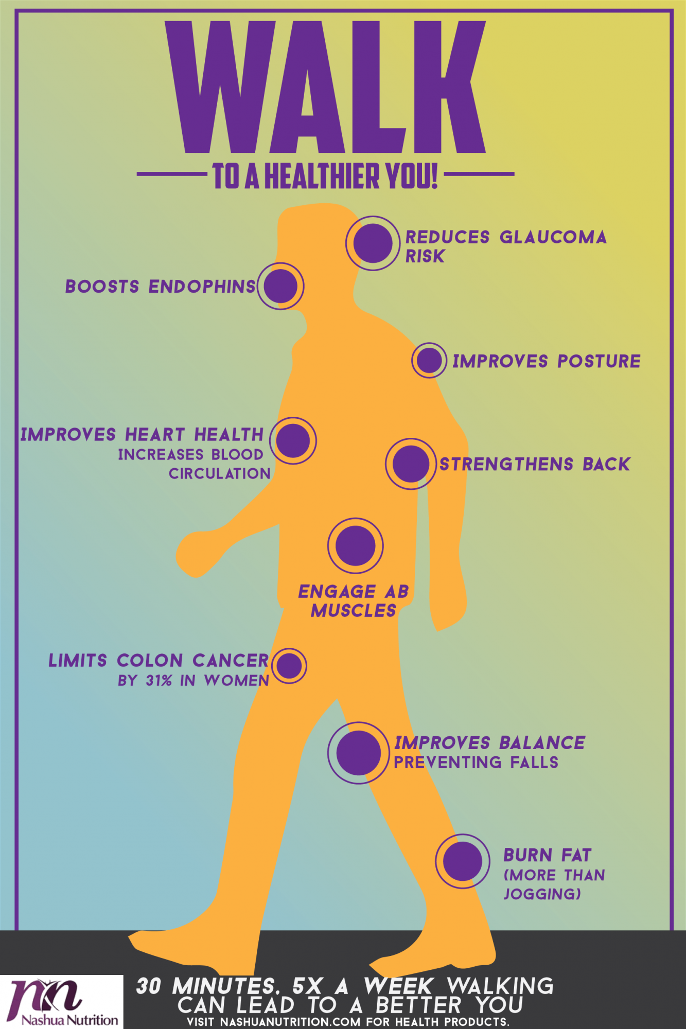 walking for the health Physical inactivity causes approximately 17% of premature mortality in the uk  walking offers a promising method for lowering risk of.