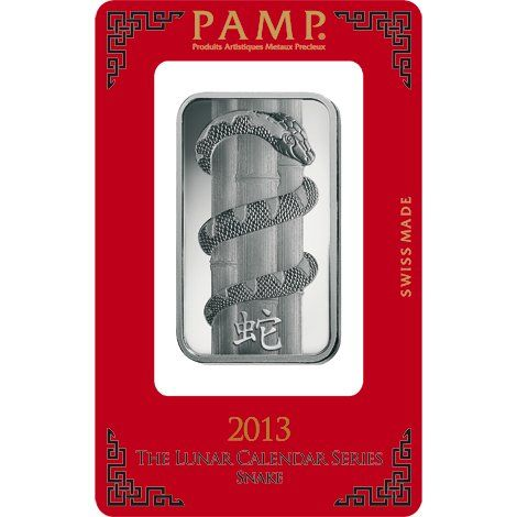 1 Oz Pamp Suisse Lunar Snake Silver Bar New W Assay Silver Bars Silver Bullion Silver