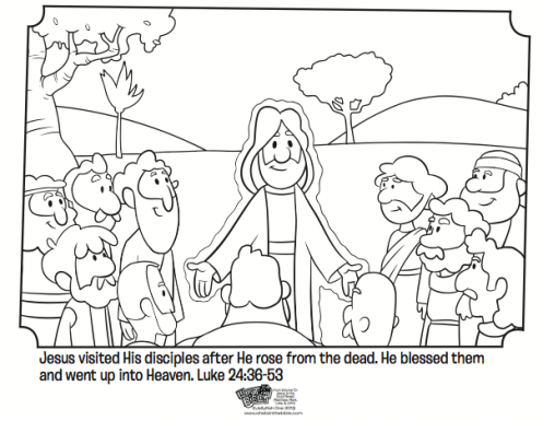 Jesus And His Disciples Free Easter Coloring Page Great For Kids From The Book Of Luke