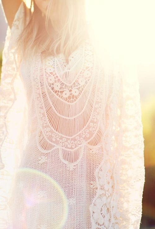 crochet lace light boho
