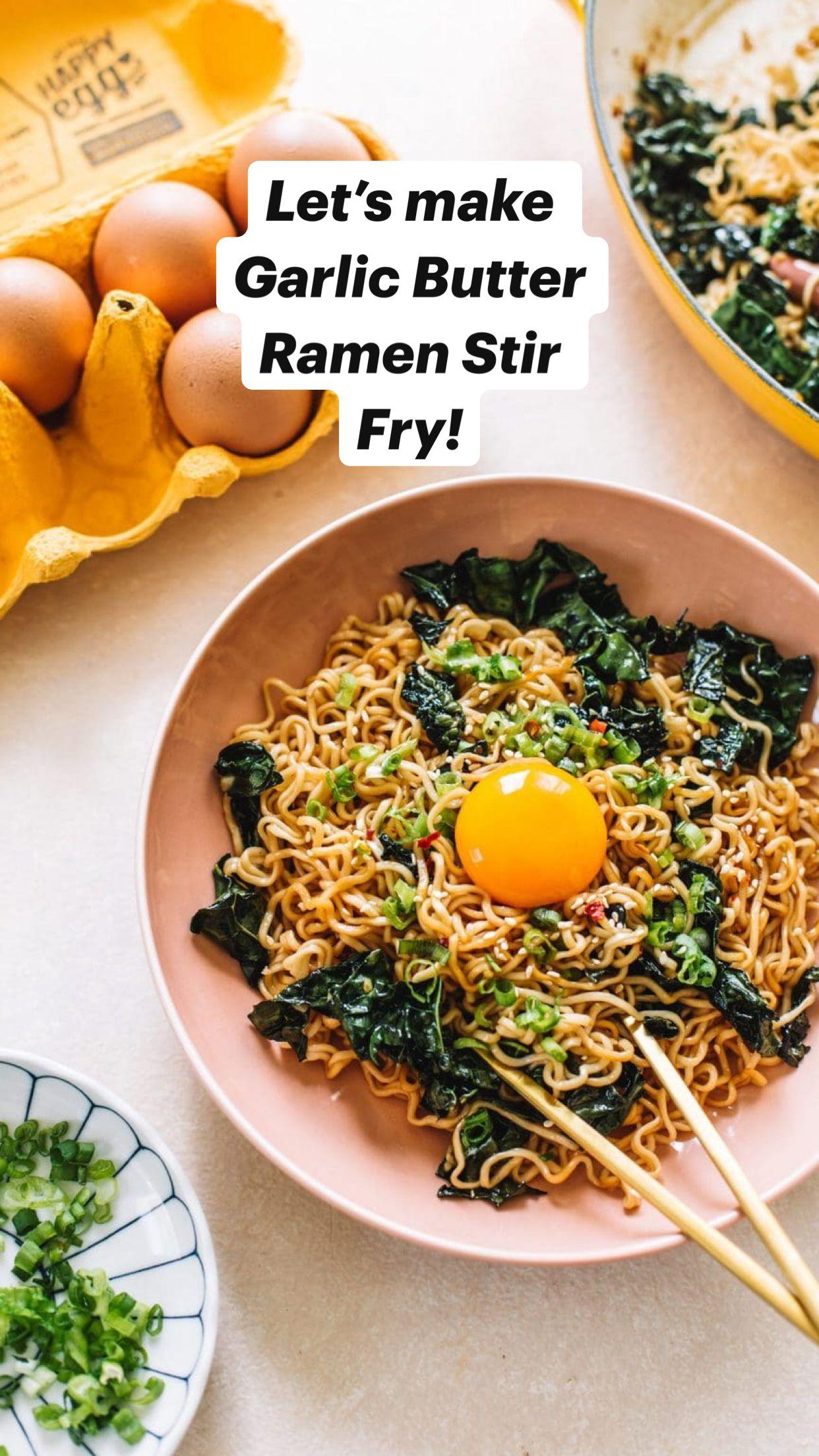 Let's make Garlic Butter Ramen Stir Fry!
