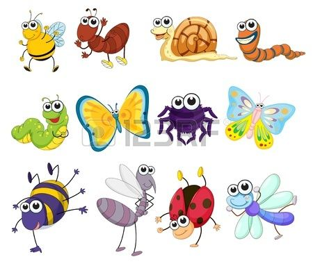 Illustration Of A Group Of Bugs Stock Vector Insects Theme Clip Art Insect Clipart