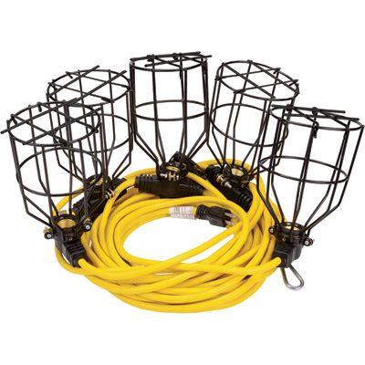 Construction String Lights Awesome Klutch 60ft Metal String Lights 60Light String 1260 Volts 160