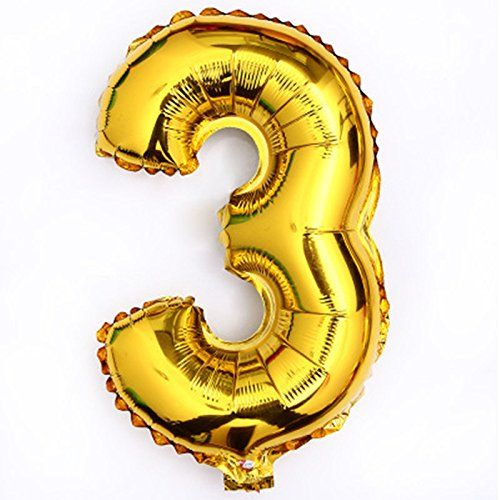 40 Inch Gold Number 3 Balloon Birthday Party Decorations Helium Foil Mylar Number Balloon See This Great Number Balloons Birthday Number Balloons Balloons