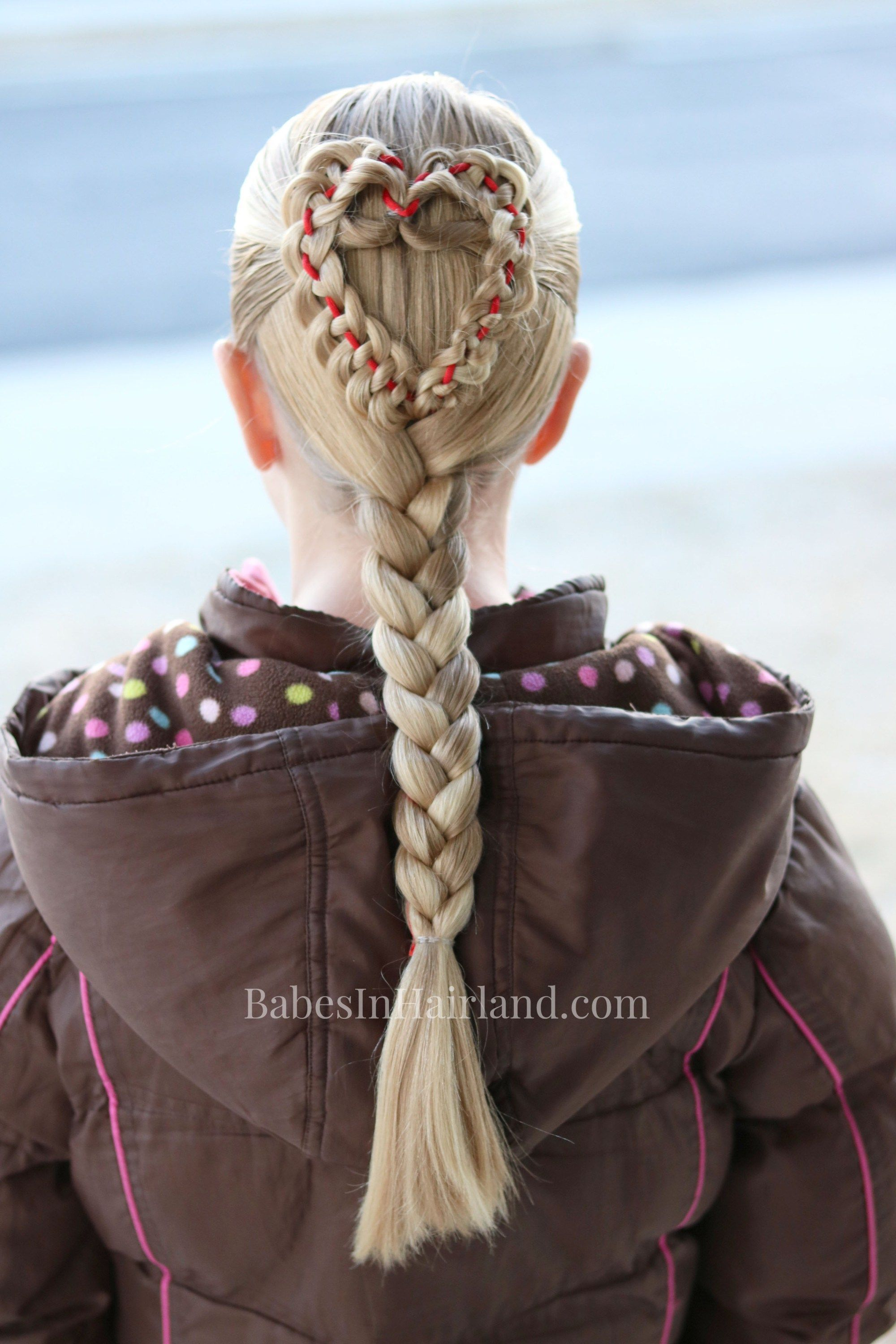 Triple heart pullback cute u simple valentineus day hairstyle