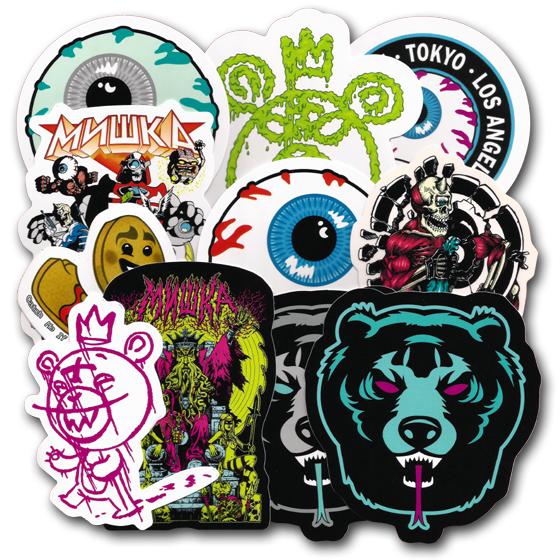 Mishka nyc sticker pack