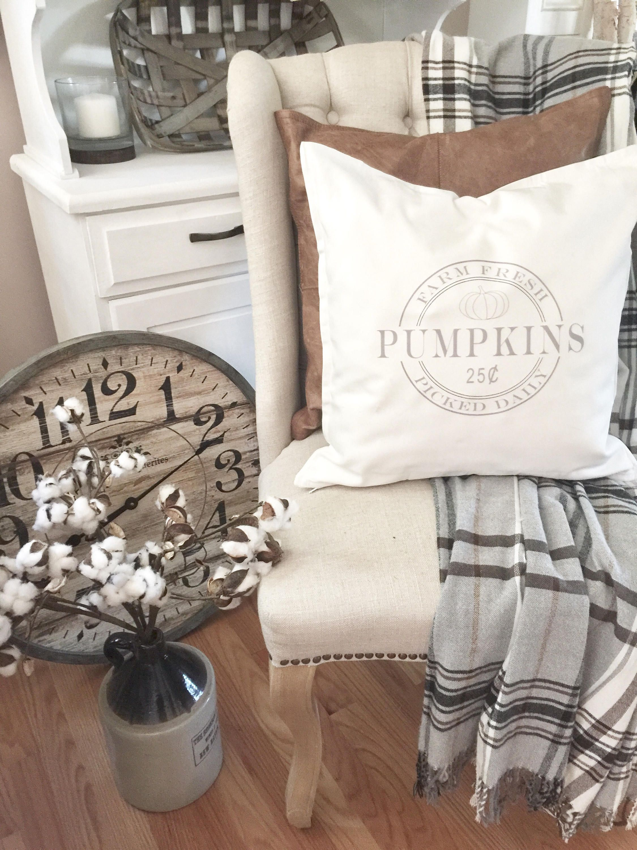 Pumpkin pillow Cover Fall Pillow Autumn Pillow Farmhouse | Autumn ...