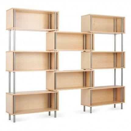 Nice Chicago 8 Box Modern Storage Shelving   Maple 1 Photo