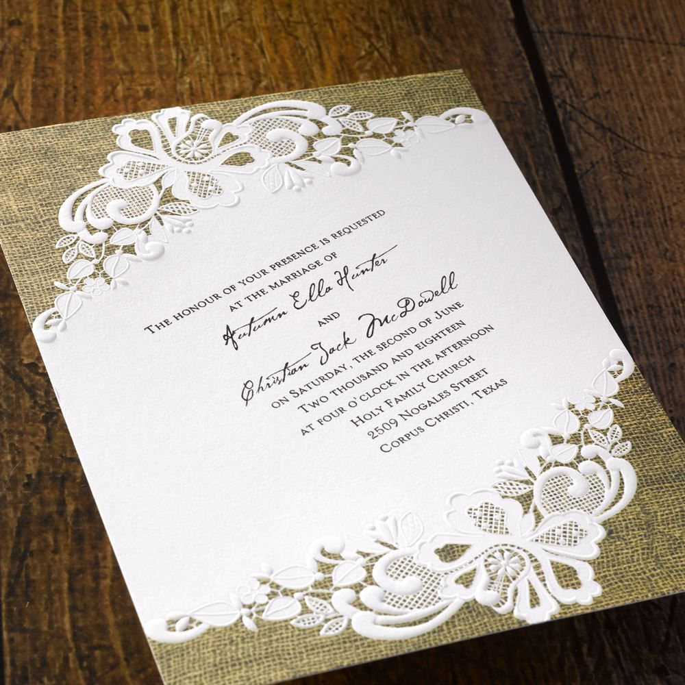Lacy Dream - Invitation | Diy wedding invitations, Wedding things ...