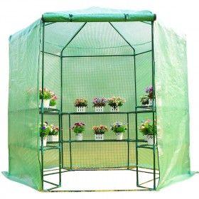 Invernadero Caseta Acero Plastico Jardin Terraza Cultivo