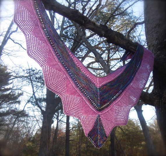 Esther Lace Shawl Knitting Pattern PDF by LismiKnits on Etsy, $5.00