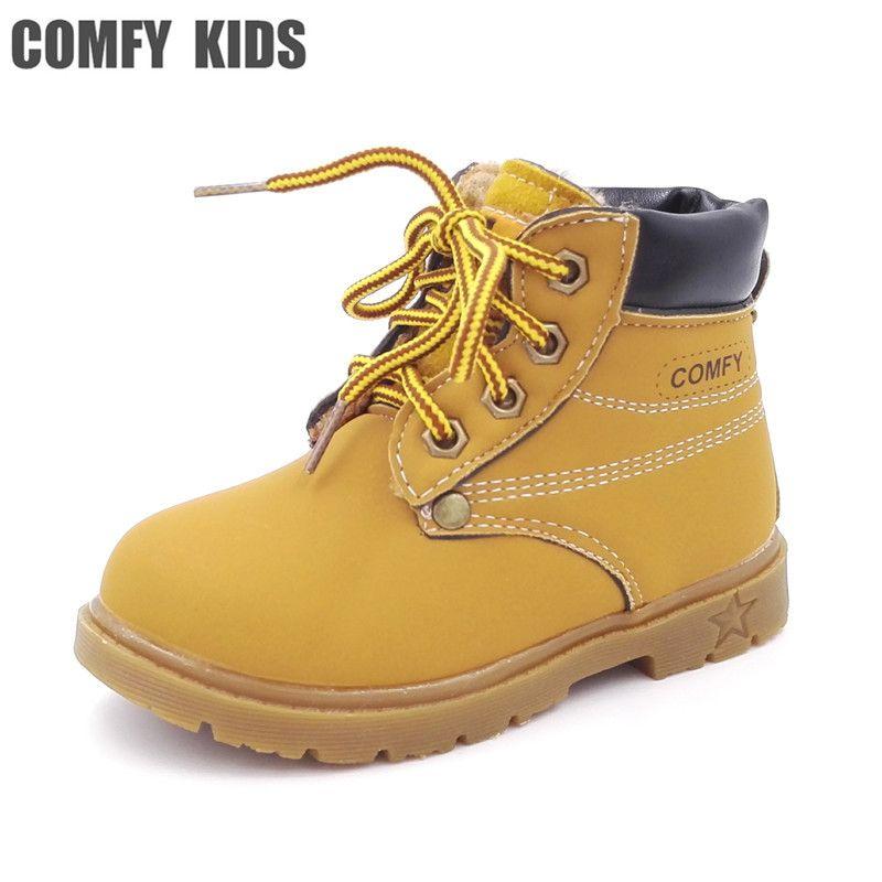 b6a471eca80 Comfy kids kind snowboots schoenen voor meisjes jongens laarzen mode zachte  bodem baby meisjes boot 21-25 herfst winter kind laarzen schoen