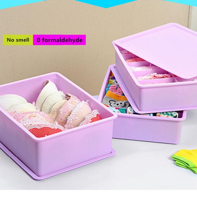 Thickening Drawer Underwear Storage Box, Storage Box, Cover, Desktop, Box,  Bra