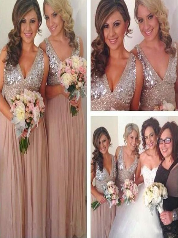 Long Bridesmaid Dress Mismatched Bridesmaid Dress Sparkly