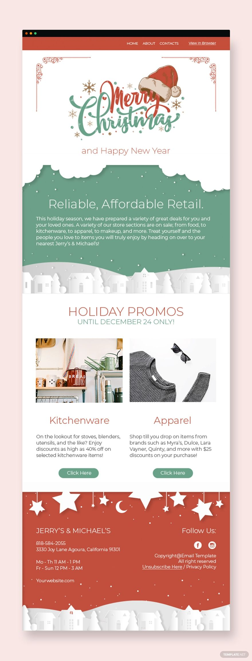 Christmas Sale Newsletter Template Word Psd Apple Pages Publisher Html5 Outlook Christmas Newsletter Christmas Websites Newsletter Templates