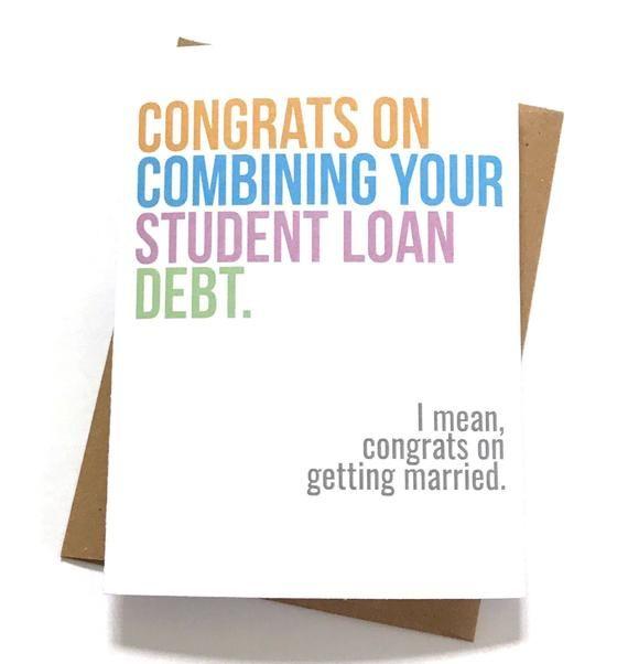 Funny Wedding Card Cheeky Engagement Millennial Jokes Cute