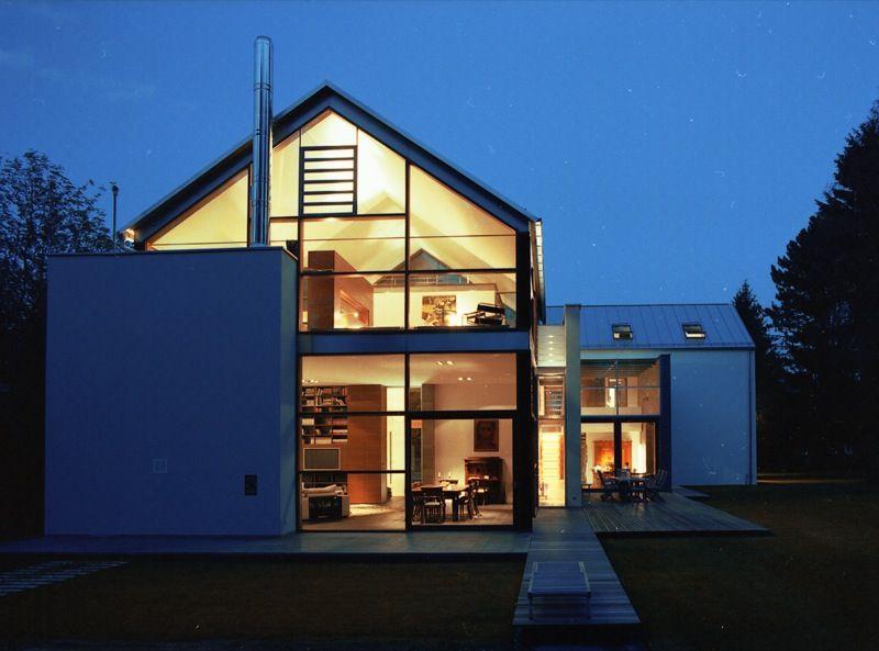Neubau Wohnhaus in Niedrigenergiebauweise, Pullach bei München, von Stuart Stadler Architekten