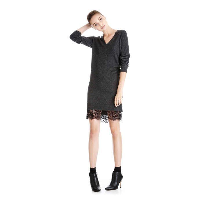 Joe Fresh Lace Hem Sweater Dress
