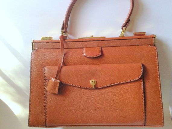 French Leather Handbag Birkin Style By Aprilsluxuries