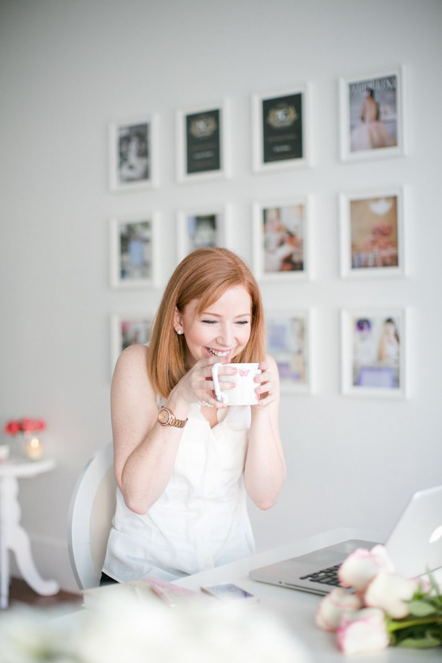 #office, #gallery-wall Photography: Jenn Best Photography Read More: http://www.stylemepretty.com/living/2014/02/27/party-planning-tips-tricks/
