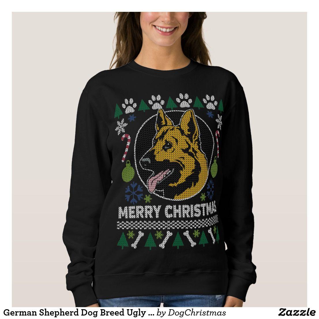german shepherd dog breed ugly christmas sweater